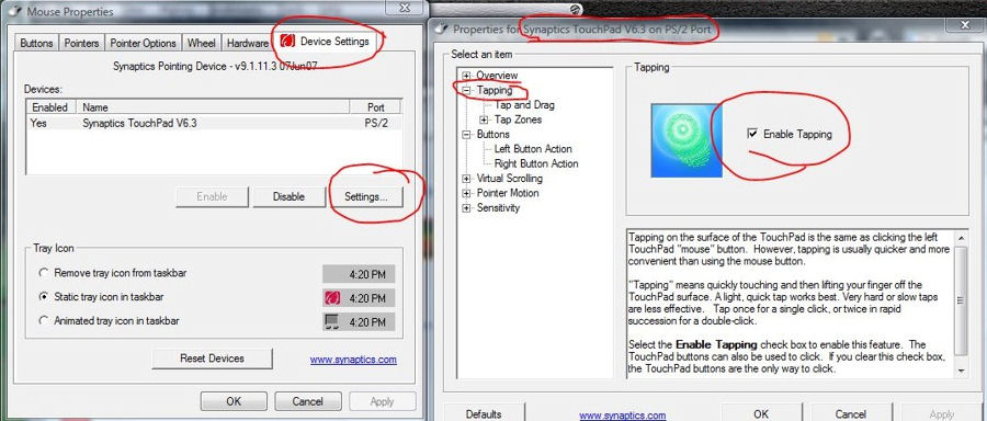 How do you disable touchpad tap to click - Hardware, Components and