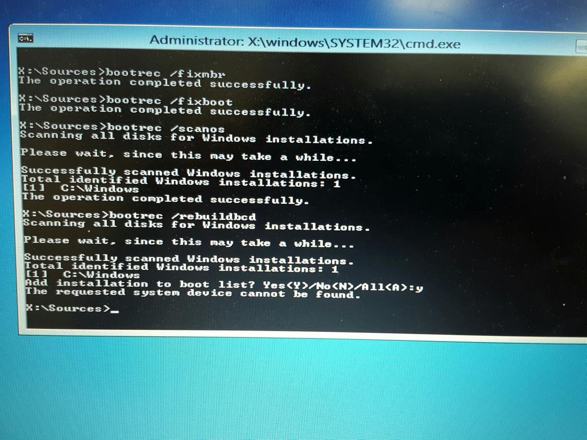 Invalid partition table! - Windows 8 and 8.1