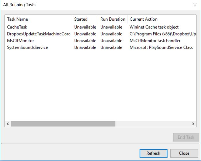 Registry Console Window pops up several times / File System
