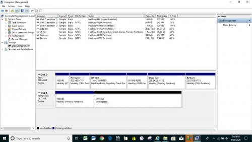 Computer Management shows Unallocated space.jpg