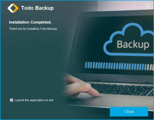 Todo Backup page Installation complete.JPG