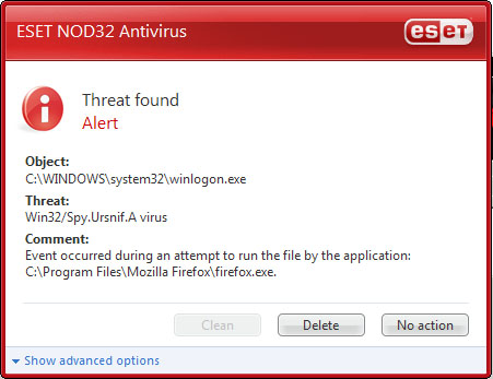 Weird alerts coming from eset(nod32) [solved] virus, spyware.