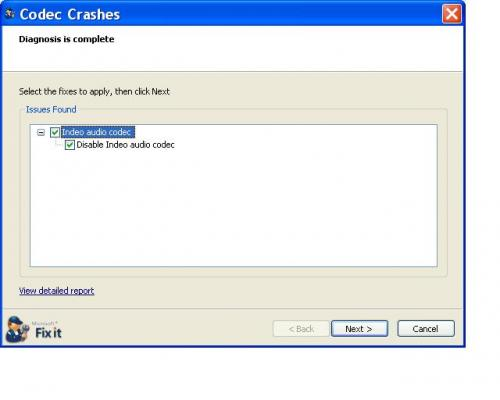 Codec for deletion from MS IE Autofixit (no auto install and repair available).JPG
