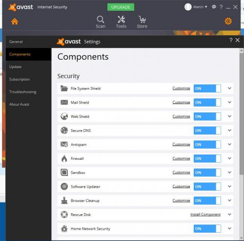 AVAST Realtime Shields keep being disabled by system32 process