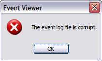 Event Log File Is Corrupt.JPG