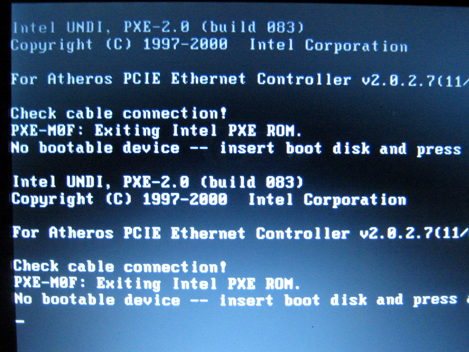 No bootable device, insert boot disk and press any key - Page 2