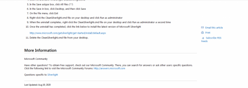 How to clean a corrupted Silverlight installation and then install Silverlight part 3.PNG