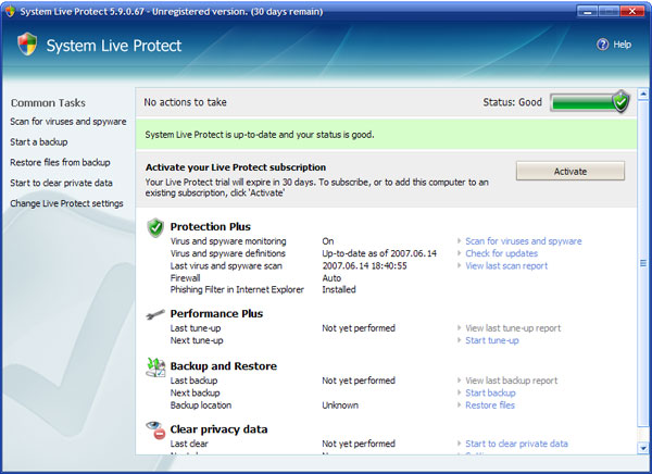 System Live Protect